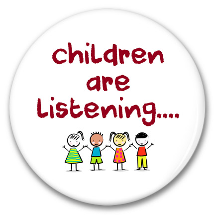children are listening button