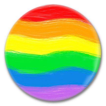 pride flag button
