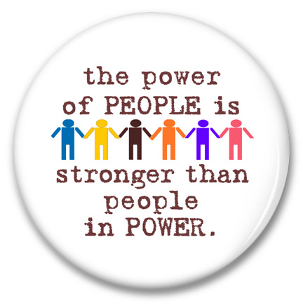 the power of people is stronger than people in power button
