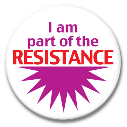 i am part of the resistance starburst button