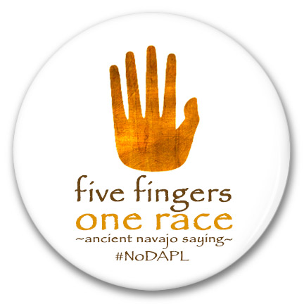 five fingers one race button