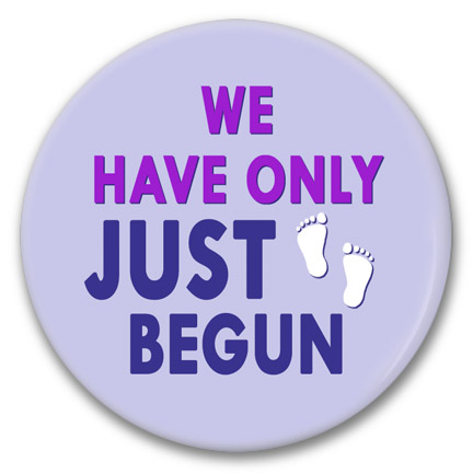 just begun button