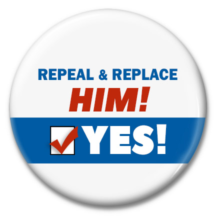 repeal & replace him button