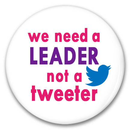 a leader not a tweeter button