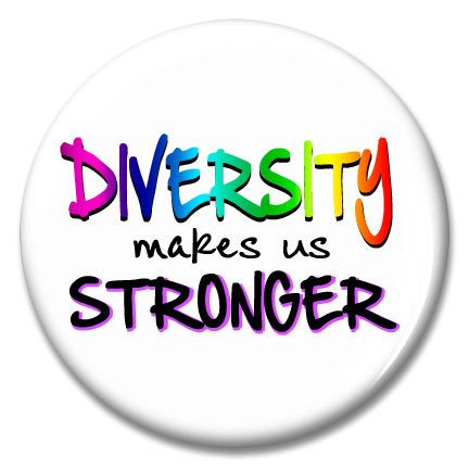 diversity makes us stronger button