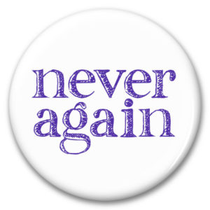 never again button
