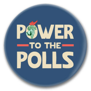 power to the polls button
