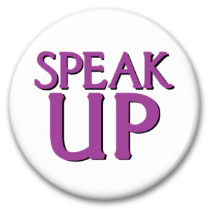 speak up button