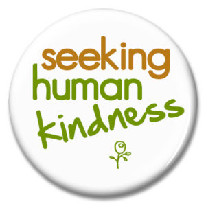 seeking human kindness button