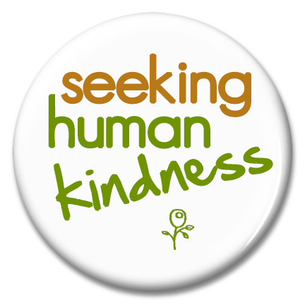 seeking human kindness button
