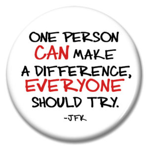 one person can make a difference button