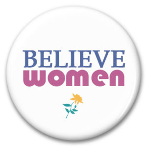 believe women oin back button