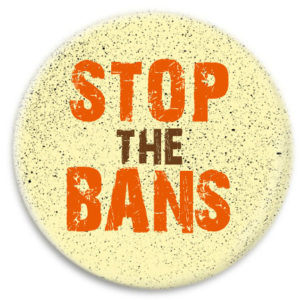 stop the abortion bans pinback button