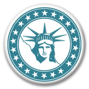 liberty stars button