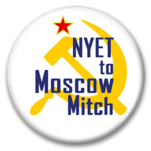 nyet to moscow mitch pinback button