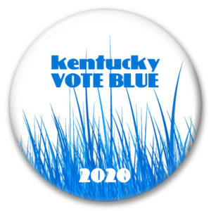 vote blue 2020 kentucky bluegrass pinback button