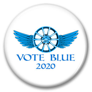michigan vote blue 2020 winged rim symbol