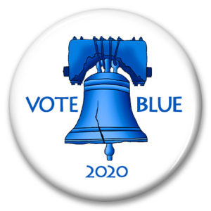 pennsylvania liberty bell vote blue 2020 pinback button