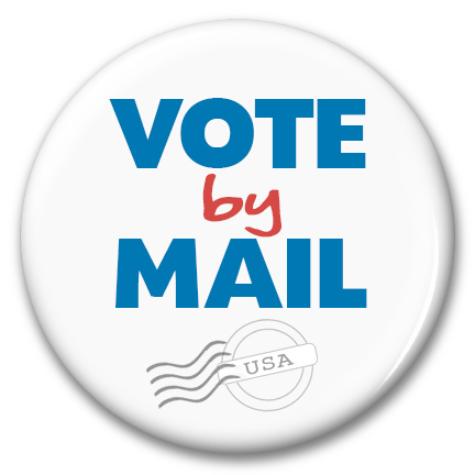 vote by mail pinback button